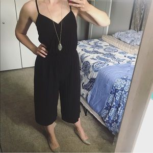 Xhilaration Black wide leg jumpsuit size medium